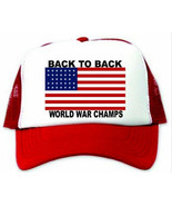 Back to Back World War Champs Hat / Cap - $14.40
