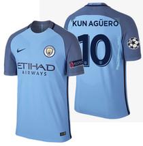 NIKE SERGIO KUN AGUERO MANCHESTER CITY VAPOR MATCH UEFA CL HOME JERSEY 2... - $275.00
