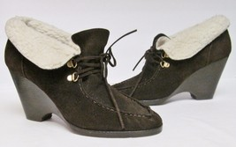 Michael Kors Ankle Boots Suede Leather Wedge Sh... - $59.95