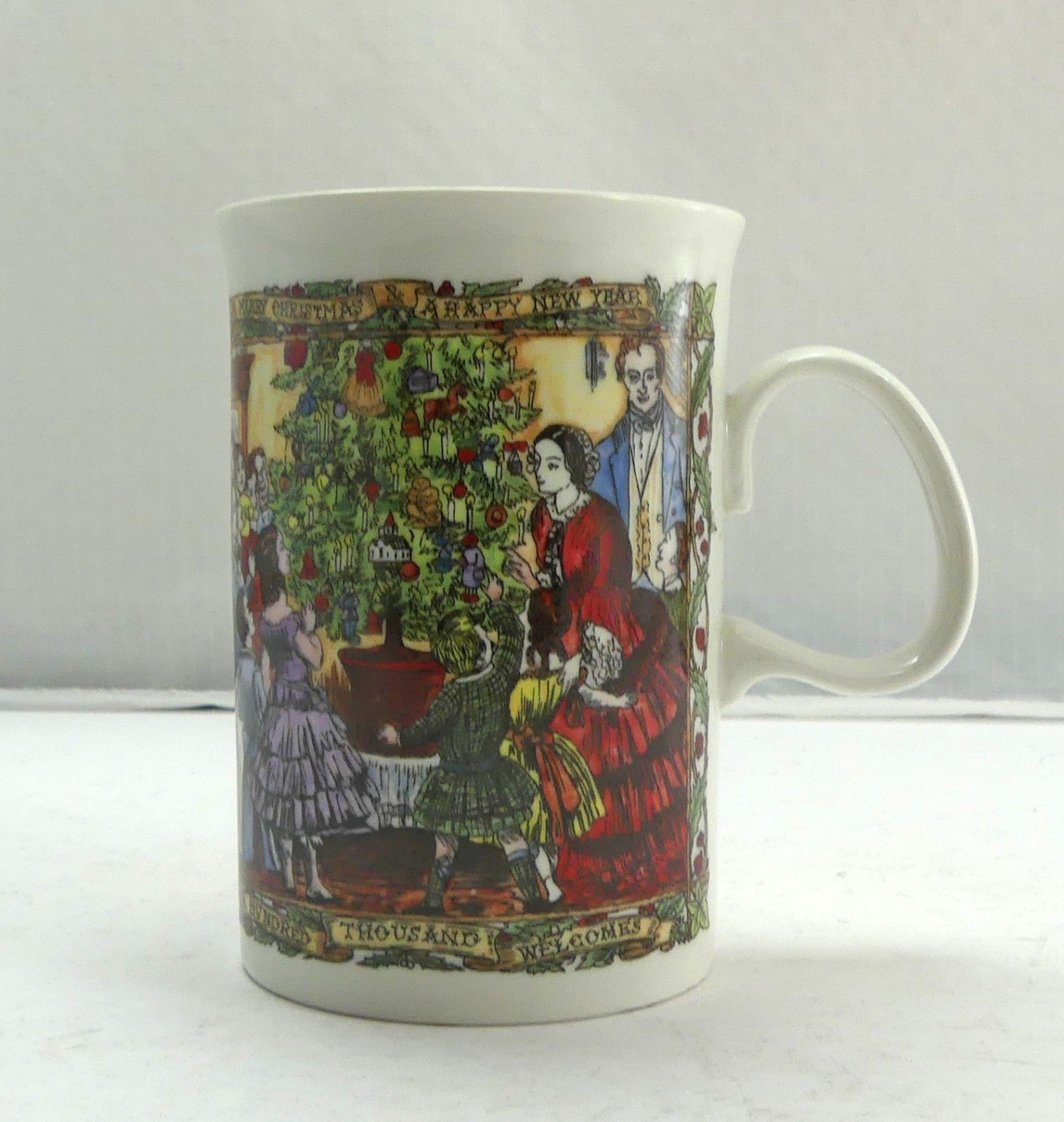"""""""Christmas Party"""" a Christmas Cheer Mug by Dunoon Stoneware Scotland Coffee Cup"""