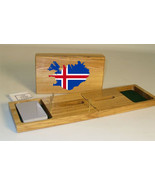 Iceland Flag Cribbage Board - $39.99