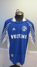 FC Shalke 04 Jersey - 1998 Home Replica Jersey - By Adidas - Men's Large  - £53.13 GBP
