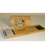 Australia Coat of Arms Cribbage Board - $39.99