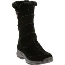 MERRELL JOVILEE ALP WOMEN'S BLACK WATERPROOF SUEDE FAUX FUR BOOTS,#J227319C - £61.07 GBP