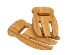 NEW! TruBamboo Bamboo Salad Hands for Serving.Great for Salads and Pasta - $224,94 MXN