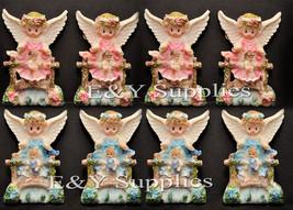 12PCS Baby Shower Baptism Angel de la Guardia Magnets Keepsake Boy Girl ... - €12,87 EUR