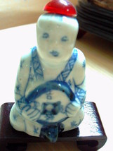 ANTIQUE Chinese Hand Painted Figure Shape Snuff Bottle Signed - $178.98