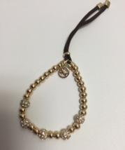 MK Michael Kors Brilliance Beaded Bracelet Gold  - $19.99