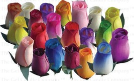 B4:Wooden Roses Buds Mixed Color 12/24/40/48 pieces FAST FREE SHIPPING F... - $7.88+