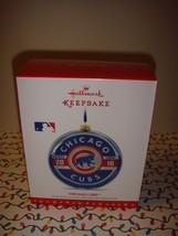 Hallmark 2016 Chicago Cubs MLB Glass Keepsake Ornament - $56.99