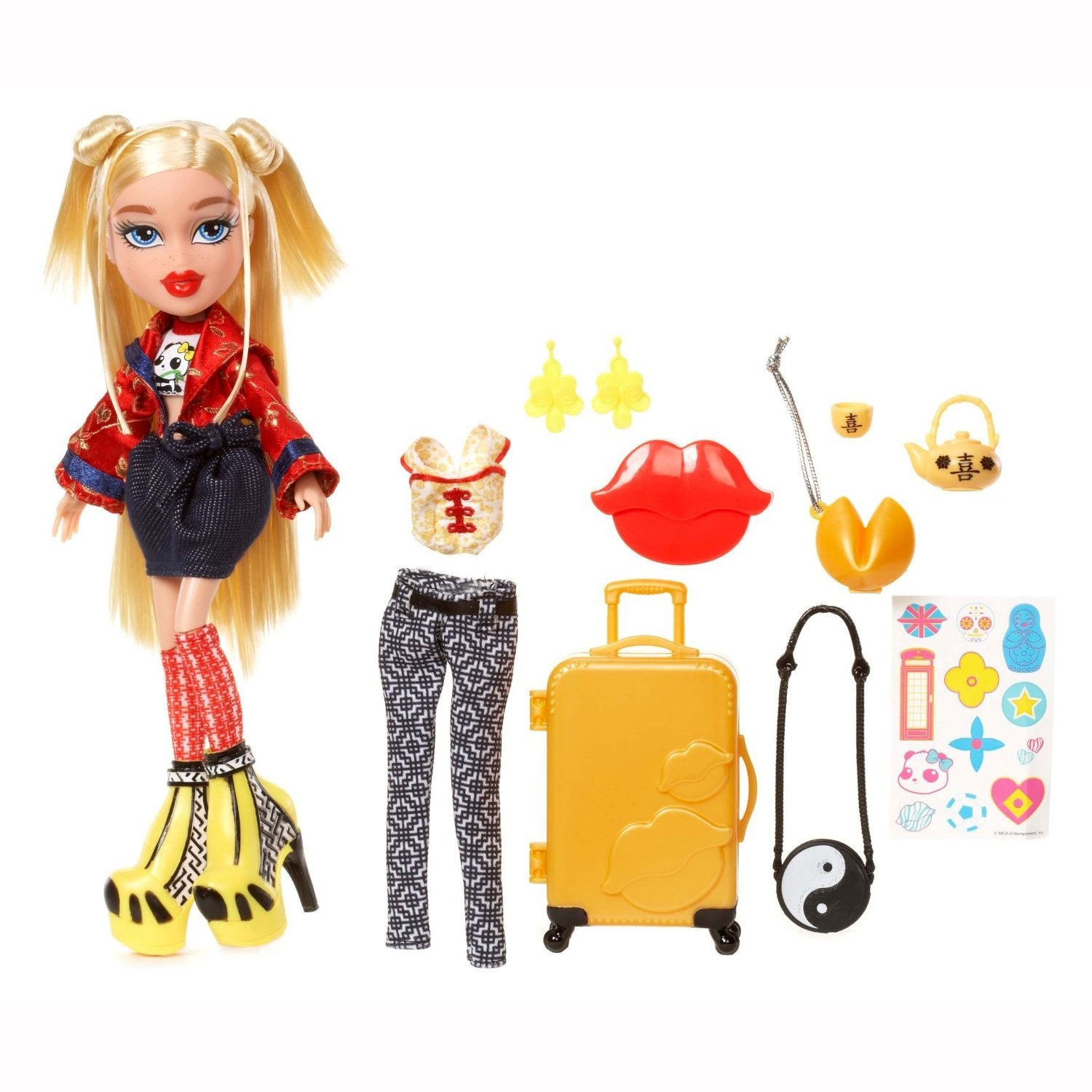 MGA Year 2015 Bratz Study Abroad Series 10 Inch Doll Set - CLOE to China with 2