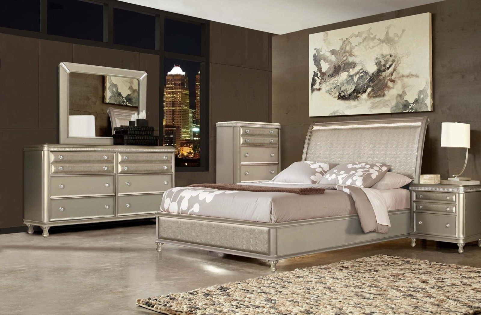 Culverbach Gray Casual 4 Pcs Queen Panel Bedroom Set Rb1uk Online Shopping