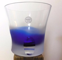 Block Glass Ice Bucket Cobalt and Clear Poland ... - $49.00