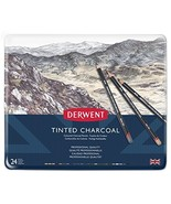 Derwent Tinted Charcoal Pencils, 4mm Core, Metal Tin, 24 Count 2301691 - $46.34