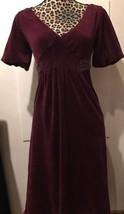 JUICY COUTURE ladies Burgundy Velour Dress Size Small Hi-Waist - $20.57