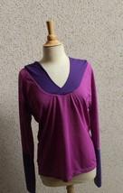 Roxy Hoodie Athletic Pullover Purple Mesh Sz M - $14.00