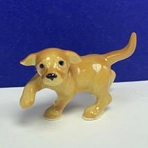 Golden Retriever figurine puppy dog miniature hagen renaker fine bone ch... - $19.07