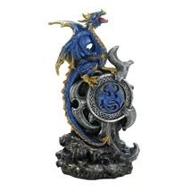 Home Decor Figurine, Led Light Up Medallion Blue Dragon Decorator Figuri... - $26.09