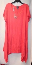 NEW WOMENS PLUS SIZE 3X 3XL PINK PLEATED FLOUNCE AIRY FULLYLINED SHARKBI... - $19.33