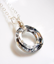 Silver Swarovski Ring Sterling Silver Karma Necklace - Bridesmaid Gift Set N036 - $29.00