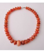 Antique Old Carnelian Agate beads Necklace-trade beads strand-middle eas... - $54.45
