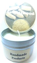 Sandalwood 4oz All Natural Hand Made Soy Candle Tin Approximate Burn Tim... - $5.99