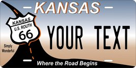 Kansas Route 66 Personalized Custom Novelty Tag Vehicle Car Auto Motorcy... - $16.75