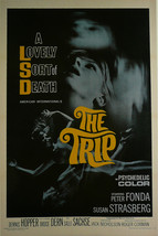 """A lovely sort of death (The Trip)- Peter Fonda - Movie Poster Framed Picture 11"""" - $32.50"""