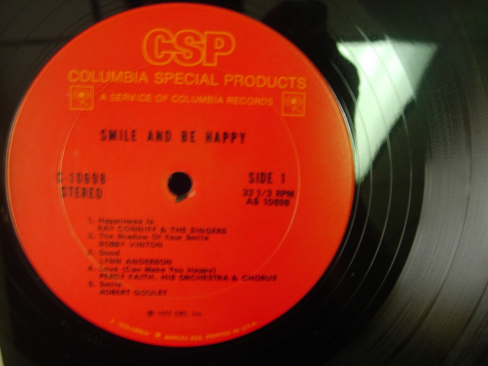 Smile and Be Happy - Tammy Wynette, Johnny Cash, Marty Robbins -Columbia C-10698