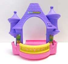 Fisher Price Little People Disney Klip Klop Castle Stable Tower Roof Rep... - $8.59