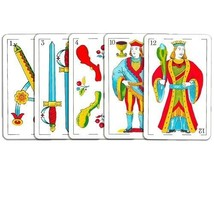 SPANISH  -PLAYING CARDS COPAG - BARAJA - MUS ( 2 DECKS - RED & BLUE) to ... - $12.16