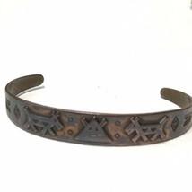 Vintage 1960's Copper By Bell Southwestern Cuff Bracelet Native American... - $29.70