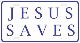 JESUS SAVES Novelty Tag Vehicle Car Auto Motorcycle Moped Bike Bicycle L... - $16.75
