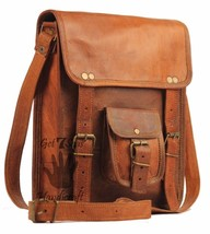 Men's Genuine Leather Brown 11 Crossbody Shoulder Satchel Messenger Bags - $31.86