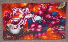 Marvel Silver Surfer vs Galactus Glossy Print 11 x 17 In Hard Plastic Sl... - $24.99