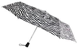 """Totes Automatic Zebra Umbrella 42"""" Large Auto Open Sun Travel Compact Mi... - $10.19"""