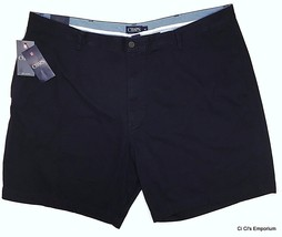 Chaps Washed Twill Chino Shorts Mens B&T 46B or 48B Navy Blue Style 21600BNT - $21.59