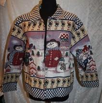 Willow Ridge XL Tapestry Jacket Winter Snowman ... - $28.74