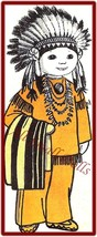 """Vintage American Indian Doll Pattern ~ 16"""" Tall - $5.99"""