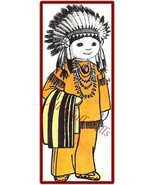 "Vintage American Indian Doll Pattern ~ 16"" Tall - $5.99"