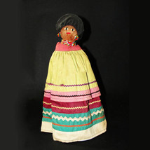 "Vintage Antique Florida Seminole Indian 11"" Tall Woman Doll 1930s-40s - $279.00"