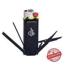 LighterBro - Lighter Sleeve - Multi-tool - Stainless Steel - Stealth BLA... - $20.18