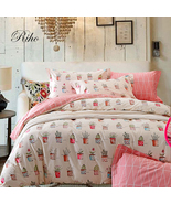 Riho 100% Cotton Full Size Rural Floral Bedding Girls Bedding Sets(4-Piece) - $59.99