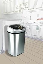 Trash Can Stainless Steel Home Garbage Wastebasket Sensor Hands Free 21.... - $109.89