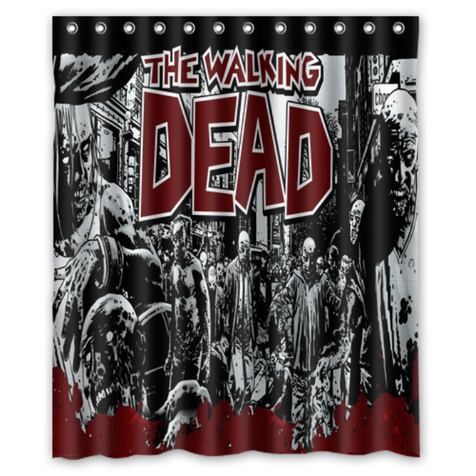 Walking Dead #02 Shower Curtain Waterproof Made From Polyester