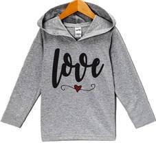 Custom Party Shop Baby's Love Valentine's Day Hoodie 24 Months Grey - $22.05