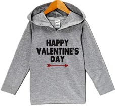 Custom Party Shop Baby's Happy Valentine's Day Hoodie 12 Months Grey - $22.05