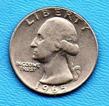 1965 Washington Quarter - Circulated Minimum Wear  - $1.25