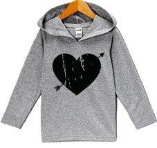 Custom Party Shop Black Heart Valentine's Day Hoodie 3T Grey - $22.05