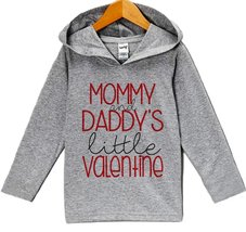 Custom Party Shop Baby's Little Valentine's Day Hoodie 6 Months Grey - $22.05